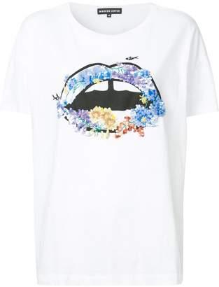 Markus Lupfer embellished lip print T-shirt