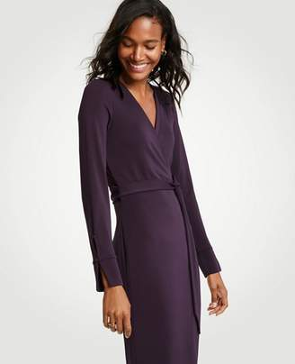 Ann Taylor Button Cuff Wrap Dress