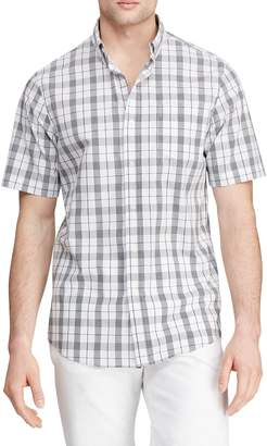 Chaps Printed Button-Down Short Sleeve Shirt