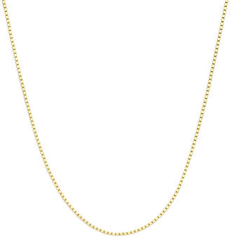 PRIVATE BRAND FINE JEWELRY Made in Italy 14K Yellow Gold 16 Box Chain Necklace