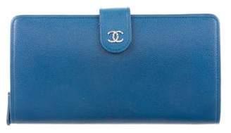 Chanel Sevruga CC L-Long Wallet