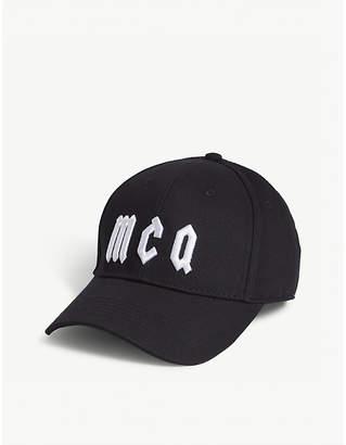 McQ Logo cotton baseball cap