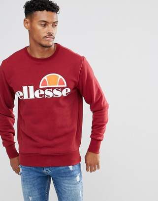 Ellesse Sweatshirt With Logo In Burgundy