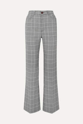 See by Chloe Prince Of Wales Checked Tweed Bootcut Pants - Gray