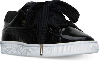 Puma Women's Basket Hearts Patent Sneakers from Finish Line $84.99 thestylecure.com