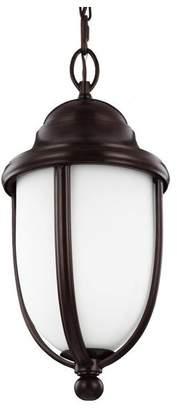 Feiss Vintner Outdoor 1-Light Outdoor Pendant/Chandelier in Heritage Bronze