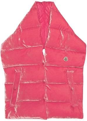 Moncler Velvet quilted-down gilet scarf