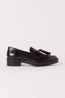 H&M Leather Loafers - Red