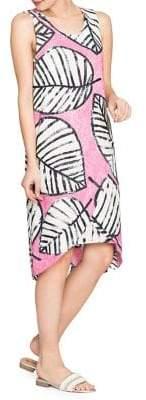 Nic+Zoe Leaf-Print Hi-Lo Maxi Dress