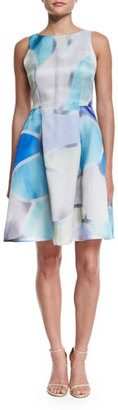 Armani Collezioni Sleeveless Floral-Print Fit-&-Flare Dress, Multi Colors $1,295 thestylecure.com
