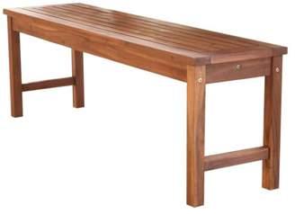 Walker Edison Furniture Company Acacia Wood Patio Bench