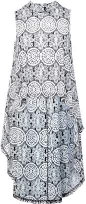Dorothy Perkins Womens *Izabel London Grey Mosaic Print Top