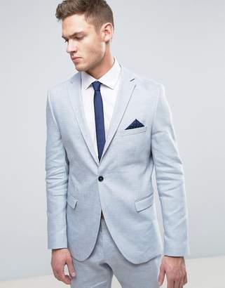 Selected Slim Suit Jacket In Linen