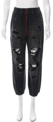 Alexander Wang Denim x Distressed Jogger Pants w/ Tags