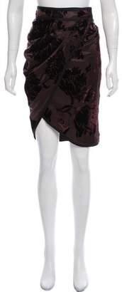 Gucci Devoré Knee-Length Skirt w/ Tags