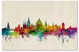 "Michael Tompsett 'Oxford England Skyline' Canvas Art - 32"" x 22"""