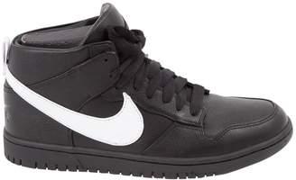 Leather high trainers