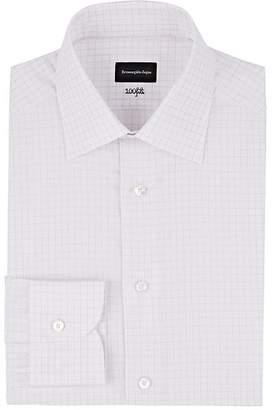 Ermenegildo Zegna Men's Checked Cotton Poplin Dress Shirt