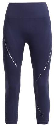 Pepper & Mayne - Lily Jacquard Compression Performance Leggings - Womens - Navy
