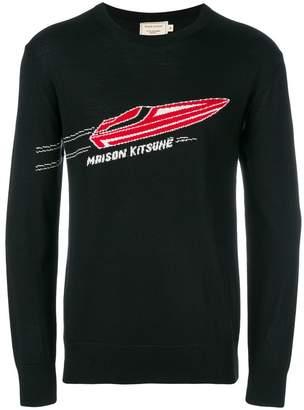 MAISON KITSUNÉ speed boat sweater