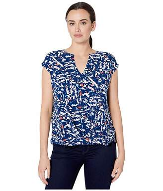 Kenneth Cole New York V-Neck High-Low Knit Top