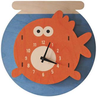 Fishbowl Modern Moose Wall Clock