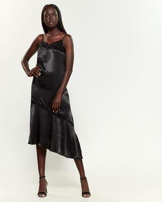 1 STATE 1.State Spaghetti Strap Soft Satin Midi Slip Dress