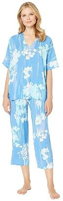 Natori N by Printed Rayon Challis Pajama Set
