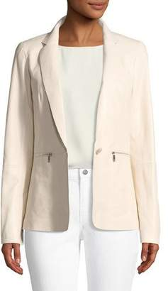 Lafayette 148 New York Lyndon Zip-Pocket Leather Jacket