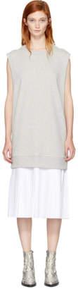 Maison Margiela Grey Sleeveless Basic Sweatshirt Dress