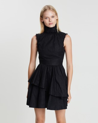 Asilio Cotton Organdy Pleated Dress