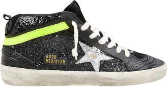 Golden Goose Mid Star Black Glitter Sneakers