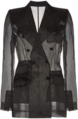 Dolce & Gabbana Sheer organza double breasted jacket