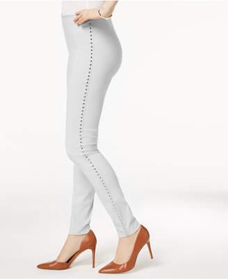 INC International Concepts I.n.c. Curvy-Fit Studded Pull-On Skinny Pants