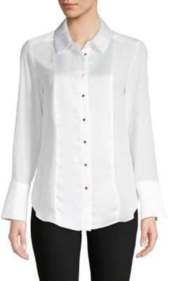 Calvin Klein Classic Long-Sleeve Button-Down Shirt