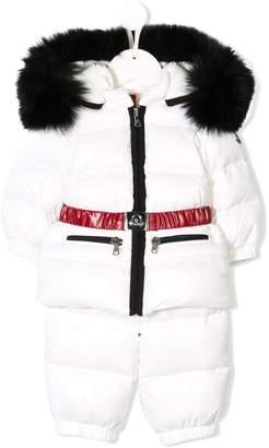 Moncler fur hooded snow suit