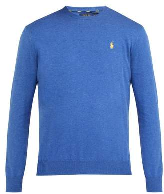 Polo Ralph Lauren Logo Embroidered Cotton Sweater - Mens - Blue