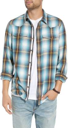 Treasure & Bond Regular Fit Plaid Western Sport Shirt