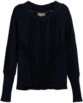Burberry two-tone cable knit jumper