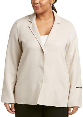 Marina Rinaldi Plus Wool & Angora-Blend Coat