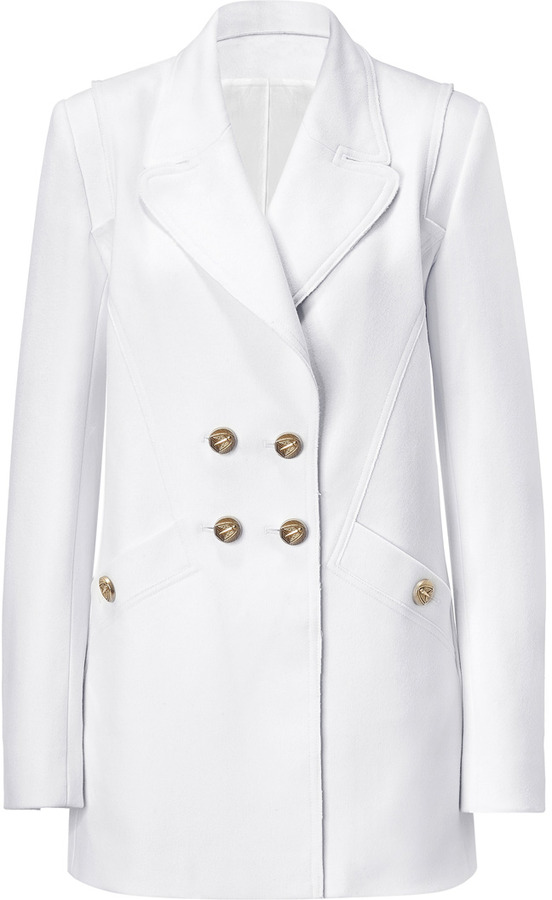Faith Connexion White Double-Breasted Coat