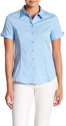 Always & Forever Cuffed Short Sleeve Button Down Shirt