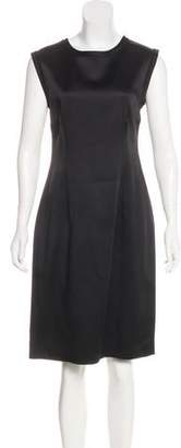 Lanvin Satin Sheath Dress