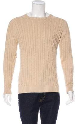 Beams Linen-Blend Cable Knit Sweater