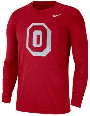 Nike Men's Ohio State Buckeyes Triblend Vault Logo Long Sleeve T-Shirt