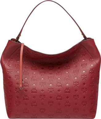 MCM Klara Hobo In Monogram Leather