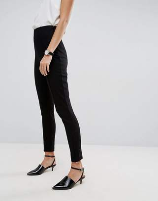 Asos High Waisted Pants With Ankle Zips