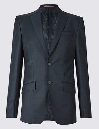 Marks and Spencer Navy Regular Fit Wool Jacket