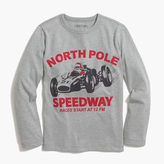 J.Crew Boys' long-sleeve santa in racecar graphic T-shirt