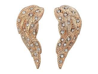 Betsey Johnson Angel Winds Stud Earrings